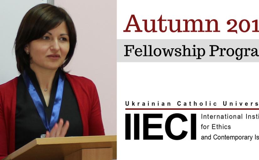 Olga Ruptash is IIECI Autumn 2019 Fellow